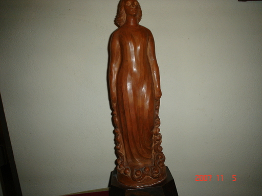 André HUGUENIN-DUMITRAN - Escultura - la femme au laurier
