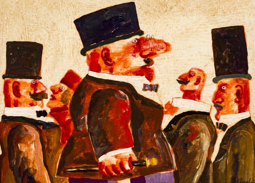 Franz BORGHESE - Pintura - Figure