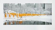 CHRISTO - Print-Multiple - The Gates Skyline with Snow