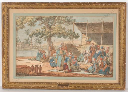 """Jacques François Joseph SWEBACH - Painting - """"Project for """"Service Egyptien"""", sensational find! 1811"""