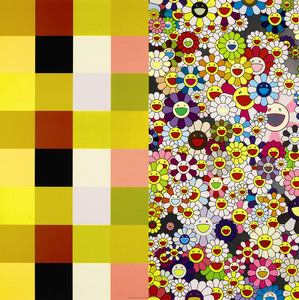 Takashi MURAKAMI, Acupuncture/Flowers (Checkers)