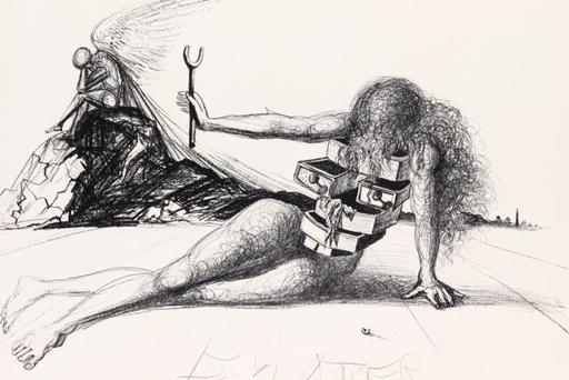 Salvador DALI - Estampe-Multiple - Drawers of Memory