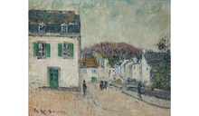 Gustave LOISEAU - Painting - Rue à Pont Aven