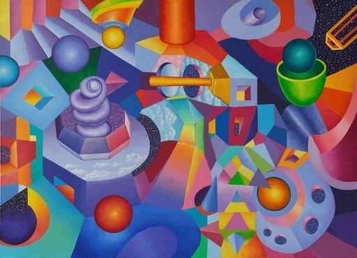 Tim TAYLOR - 绘画 - Fragmented