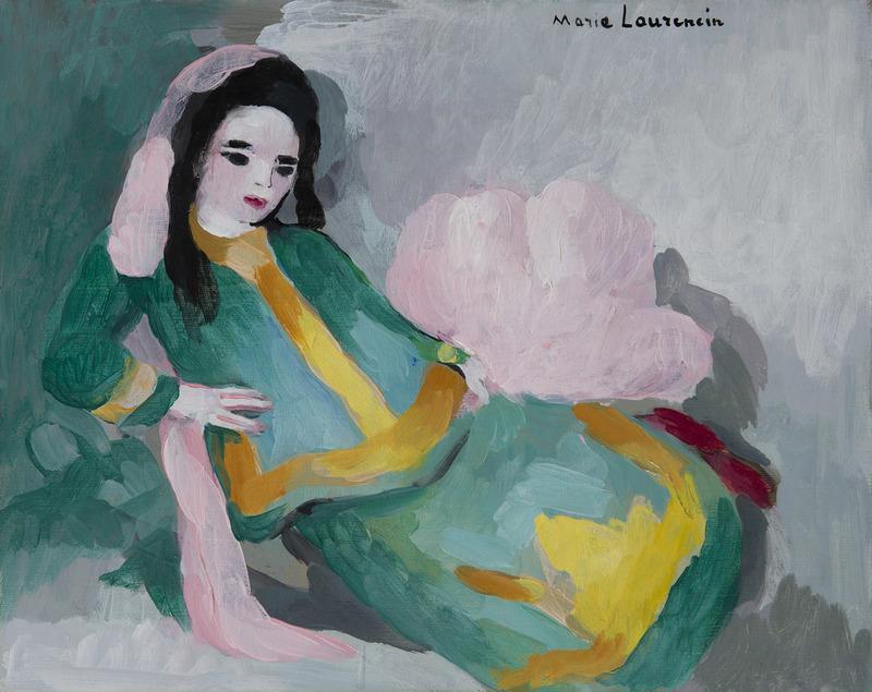 Marie LAURENCIN - Gemälde - Femme allongée
