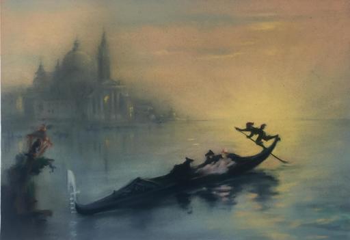 Louis MORIN - Drawing-Watercolor - VENISE