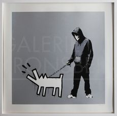 BANKSY - Estampe-Multiple - Choose Your Weapon (Silver) signed