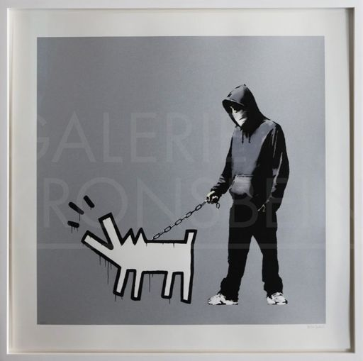 BANKSY - Print-Multiple - Choose Your Weapon (Silver) signed