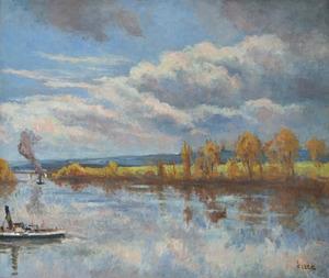 Maximilien LUCE - Peinture - Bord de Seine