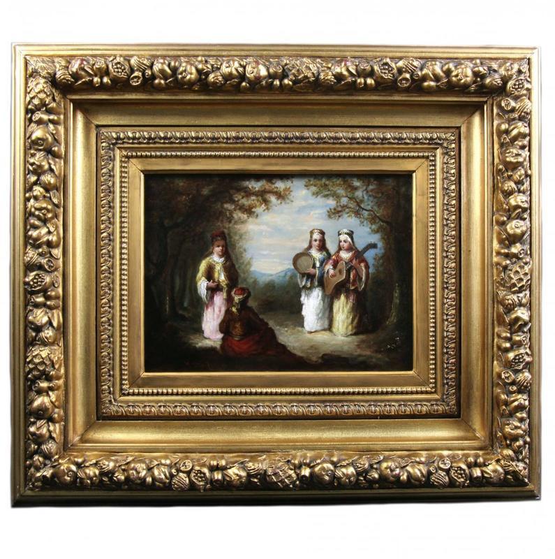Narcisse Virgile DIAZ DE LA PEÑA - Peinture - huile sur toile scène de forêt