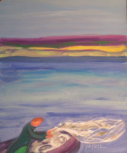 Amos YASKIL - Painting - *Sea of Gallalee