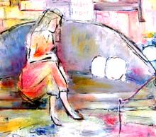 Jacqueline GAGNES-DENEUX - Peinture - MONOLOGUE