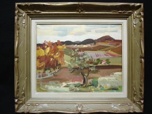 Serge CORBICE - Painting - Vue d'un paysage