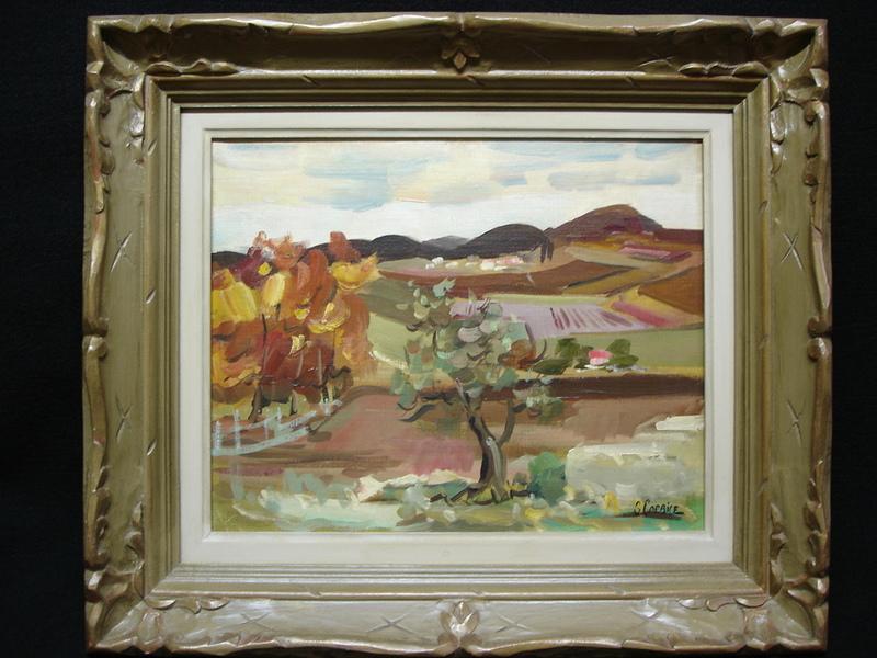 Serge CORBICE - Pittura - Vue d'un paysage
