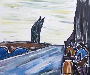 Christian DURIAUD - Pintura - Le bistrot
