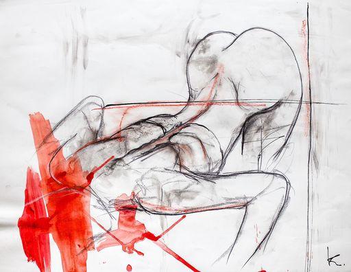 Guillaume KALT - Dibujo Acuarela - Abreuvoir    (Cat N° 6140)