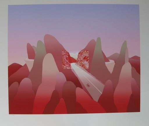 Jean-Michel FOLON - Druckgrafik-Multiple - *I'm Writing from Mount Rocheuses