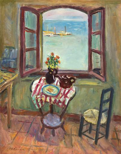 Charles CAMOIN - Painting - Fenêtre de l'atelier, Saint-Tropez