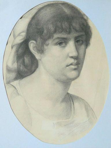 Henri GREVEDON - Drawing-Watercolor - PORTRAIT - FEMME - WOMAN
