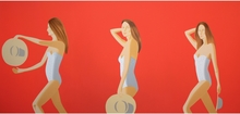 Alex KATZ - Estampe-Multiple - Ariel (red)