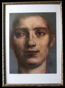 Jean-Pierre DELISSE - Pintura - Visage homme 2