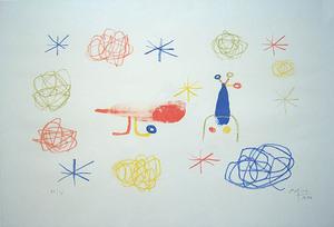 "Joan MIRO, ""The Red Bird I"" (Mourlot 98)"