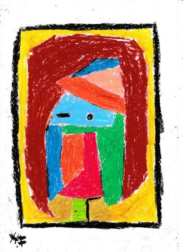 Harry BARTLETT FENNEY - Drawing-Watercolor - abstrait: portrait update of the hollander lady
