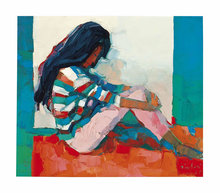 Nicola SIMBARI - Painting - Seated Woman