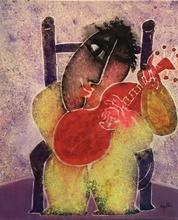 Juan GARCIA RIPOLLES - Painting - LE GUITARISTE