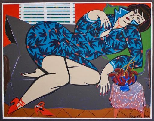 Hussein MADI - Pintura - Lying Lady