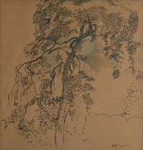 Herman KRUYDER - Dibujo Acuarela - Tree
