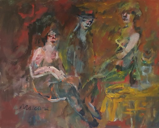 Mino MACCARI - Painting - Senza titolo