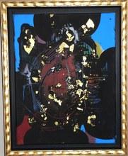 "Ladislas KIJNO - Painting - 'Hommage à la Princesse Maia 1492-1992"""