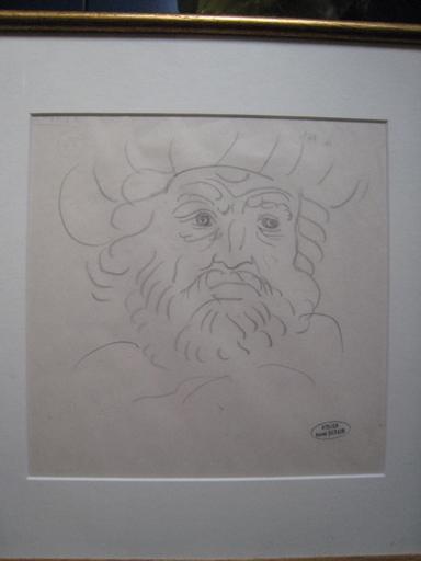 André DERAIN - Dessin-Aquarelle - PORTRAIT D HOMME