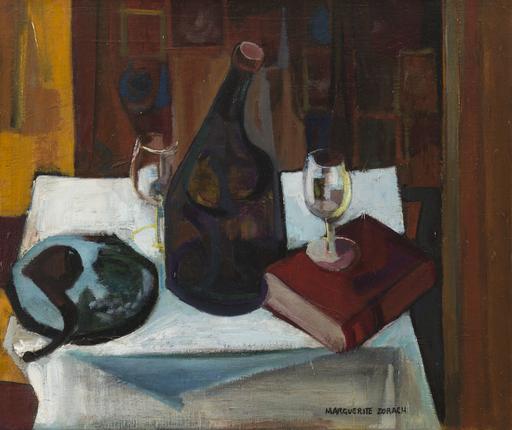 Marguerite Thompson ZORACH - Pintura - Nature morte aux verres