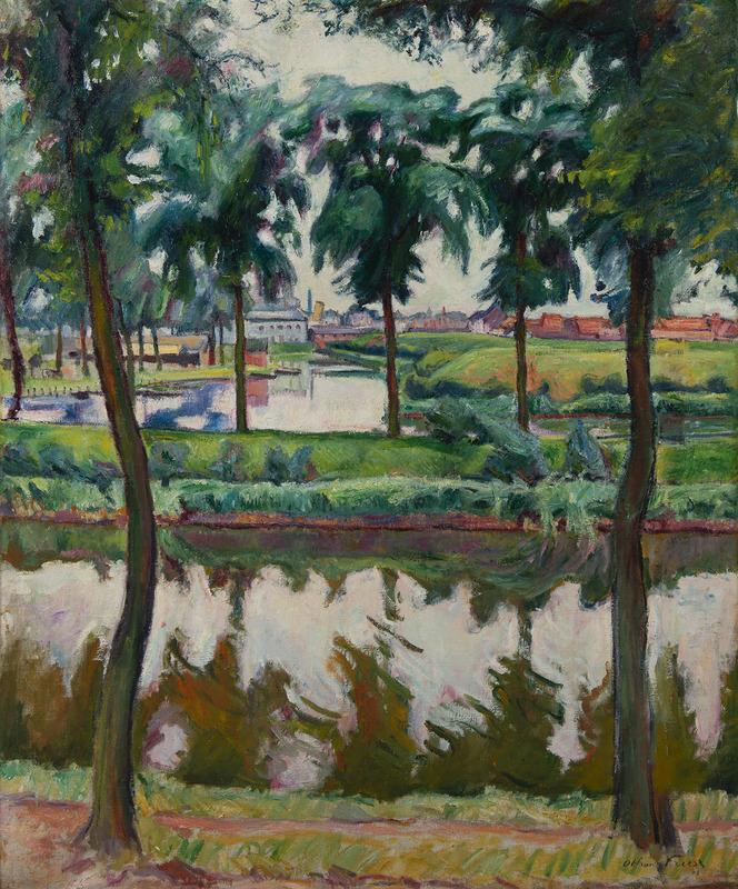 Emile Othon FRIESZ - Peinture - Canaux à Anvers