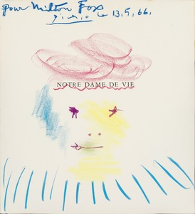 Pablo PICASSO - Dessin-Aquarelle - Drawing for Milton Fox