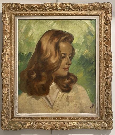 Pierre PIGET - Gemälde - Portait de Jeanne Moreau