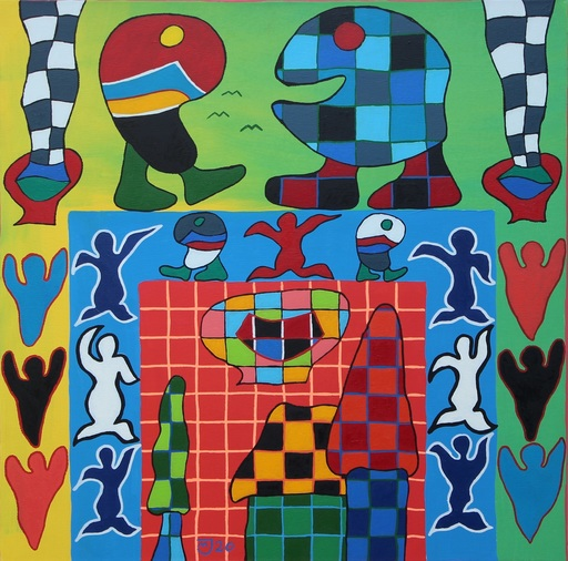 Michael JANSEN - Painting - Hoffnungsschimmer vertreibt Angst