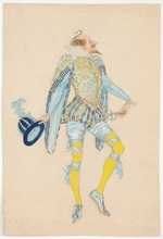 "Rudolf HAFNER - Drawing-Watercolor - ""Stage costume design"" watercolor, 1920s"