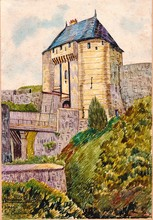 Francisque RABERAIN - Drawing-Watercolor - CAEN LE CHATEAU