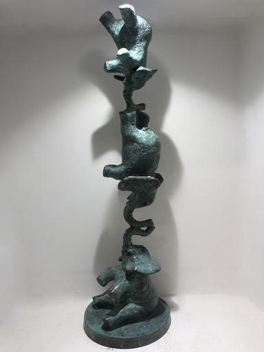 Philippe BERRY - Scultura Volume - Equilibre d'éléphants