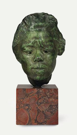 Auguste RODIN - Scultura Volume - Masque d'Hanako, étude type A, modèle moyen