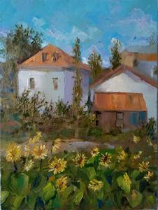 Ohanyan KAMSAR - Pittura - Sunflower Garden