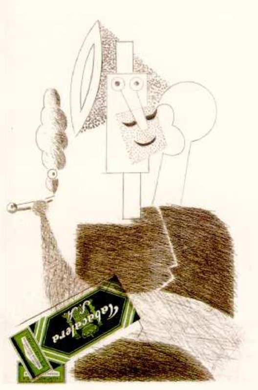 Manolo VALDÉS - Grabado - El fumador