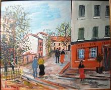 Edmond Amédée HEUZÉ - Peinture - Montmartre Paris