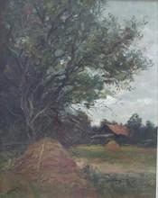 László Báró MEDNYANSZKY - Painting - Landscape with a House