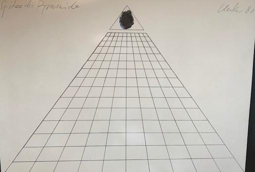 Günther UECKER - Estampe-Multiple - Spitze der Pyramide
