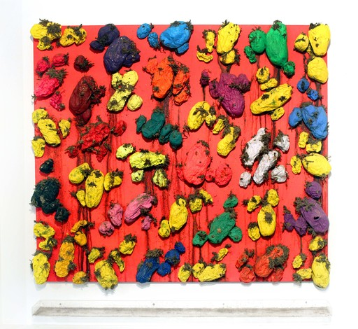 Biagio PANCINO - Sculpture-Volume - Polychromie de pommes de terre - rouge vif fluo