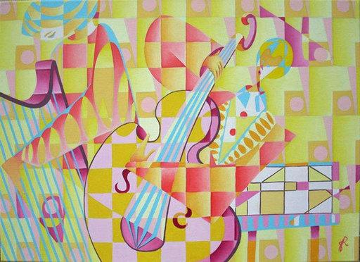 Gilda RICHET - Pittura - Lignes en Ballade Duo
